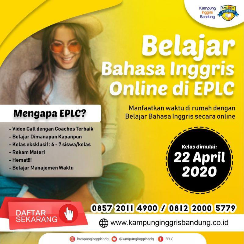 Melalui Kelas Online Eksklusif, E-PLC Kampung Inggris Bandung ingin tetap memberikan ruang belajar bersama secara virtual